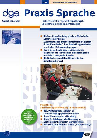Heft 1/2017 - 62. Jahrgang 2017 - Heftarchiv - Sprachheilarbeit